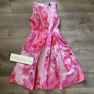 White House Black Market Pink Floral Dress